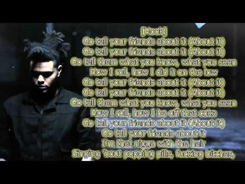 The Weeknd - Tell Your Friends Lyrics - [Lyric Video]