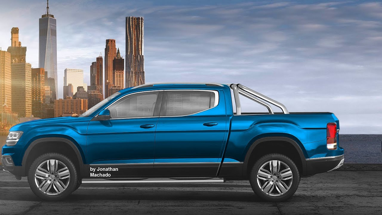 Render 2018 Volkswagen Atlas Tanoak Pickup Truck Vw