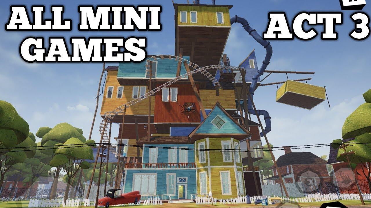 Hello Neighbor Mobile Act 3 All Mini Games Walkthrough