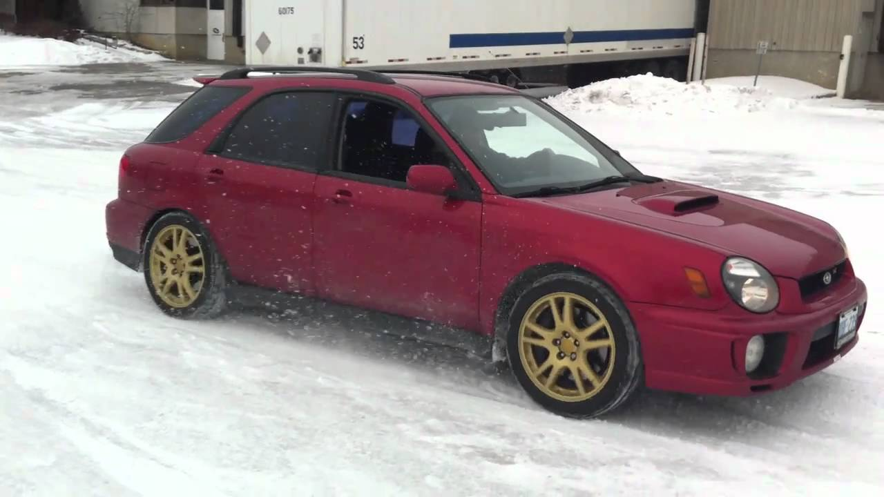 STi wagon launches on ice DCCD fully locked (part 2)
