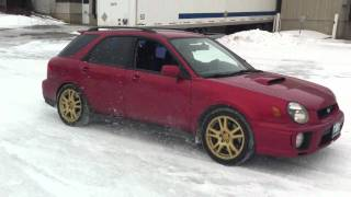 sti wagon launches on ice dccd fully locked part 2