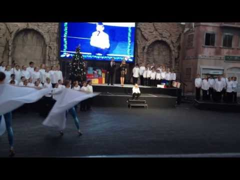 'Believe' sung by soloist Harry Hart and Gold Coast Choir
