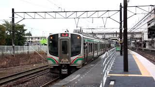 東北本線 新白河駅 E531系試運転 黒磯向け発車 下り普通E721系到着発車 2017.10.13