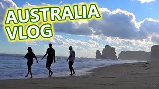Australia Travel Vlog - Kangaroos, Ocean Road & Food
