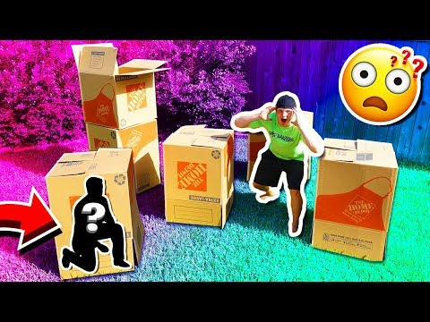 MYSTERY BOX FORT HIDE & SEEK CHALLENGE!