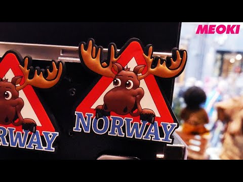 Norway (Oslo) Souvenirs - between moose and small viking ships.