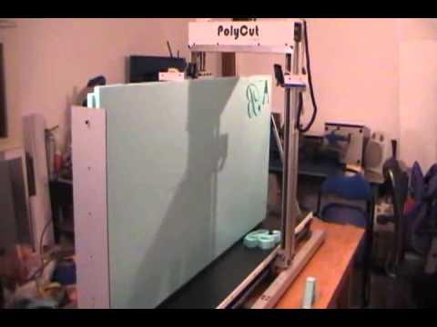 router cnc polistiren / utilaj computerizat pentru decuparea polistirenului.avi