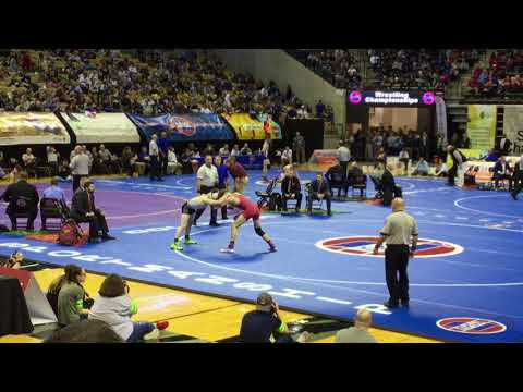 Lawson mo wrestling Tyler Ross state championship Match 2018