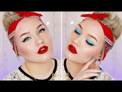 Colorful Pin Up Makeup Tutorial