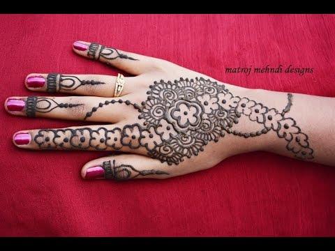Easy Simple Beautiful Floral Mehndi Henna Designs For Hands Matroj