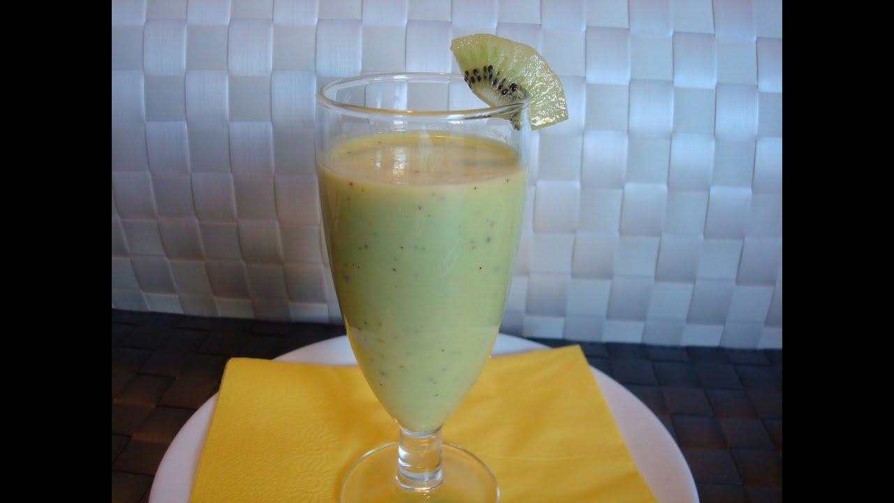 C mo hacer batido de kiwi r pido y nutritivo tonio - Batidos de kiwi ...