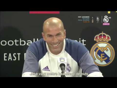 Zinédine Zidane parle de Jesé au PSG