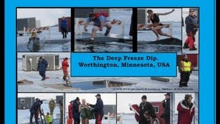 Deep Freeze Dips at Lake Okabena, Worthington, Minn. 1-12-13