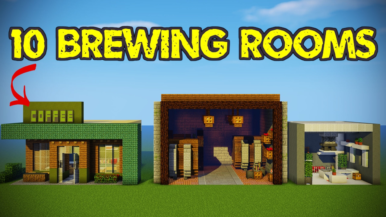 10 minecraft brewing room designs youtube for Minecraft house interior living room