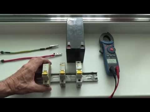 Тест КЗ автоматических выключателей переменного тока в цепи постоянного