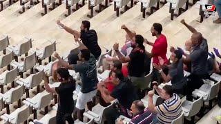 فرحة جنونية لصالح جمعة وحسين الشحات عقب تصدي الشناوي لركلة جزاء من لاعب الاتحاد