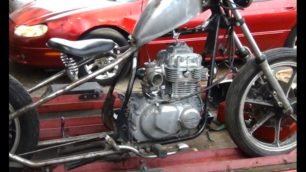 KZ440 Custom Part 5 - Engine Mockup - YouTube