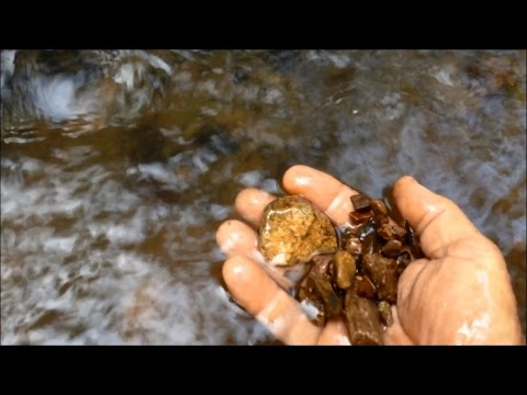 Alluvial Gold Prospecting -  The Best Places To Find Gold In A Creek - How To Get Gold