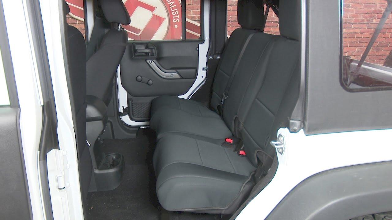 Rugged Ridge 13264.01 Black//Black Custom Neoprene Rear Seat Cover