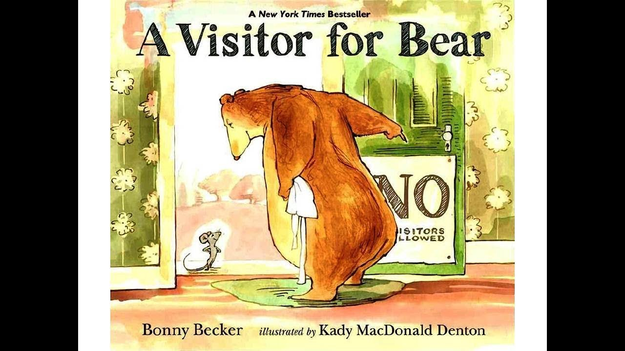 a visitor for bear book kids reading with english subtitles