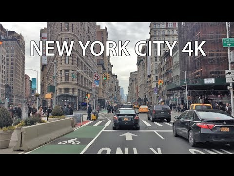 Driving Downtown New York City 4K USA
