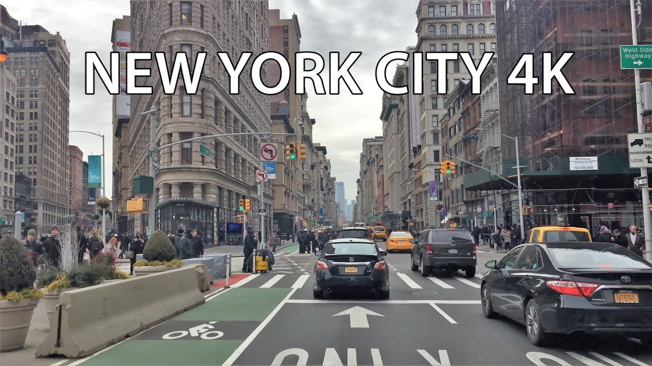 Driving Downtown - New York City 4K - USA