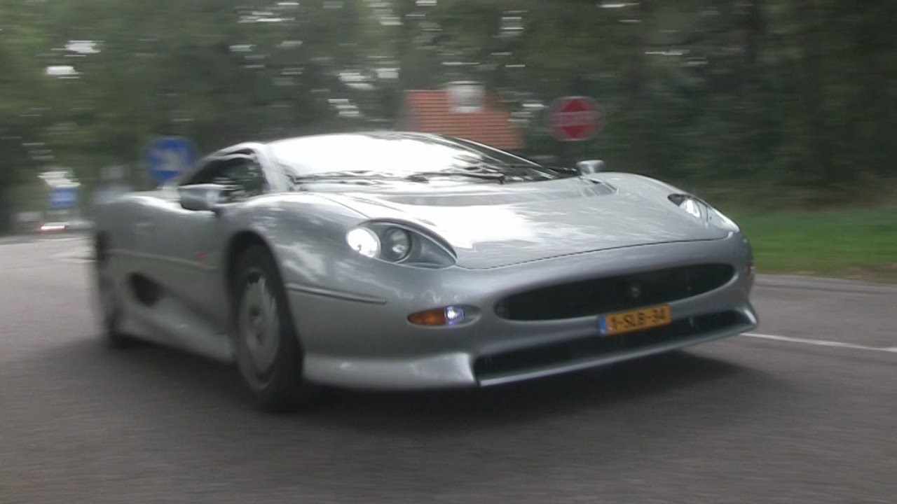 Jaguar XJ220 is driven properly! INSANE accelerations + flyby - YouTube