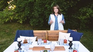Setting the Table: Outdoor Dining Space | Beneath My Heart