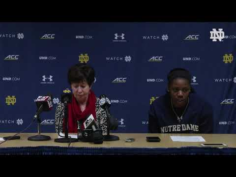@ndwbb | Post-Game Press Conference vs. UConn (2018)