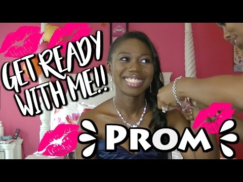 Get Ready With Me PROM - Hair, Makeup, Dress  **Re-Uploaded!!**