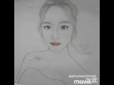 Vẽ Yoona,GD,Solji bằng chì cực đẹp