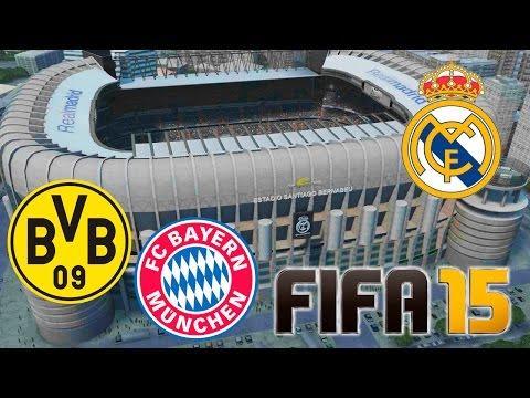 Real Madrid - Bayern Munich & Borussia Dortmund | FIFA 15 Amistosos Online