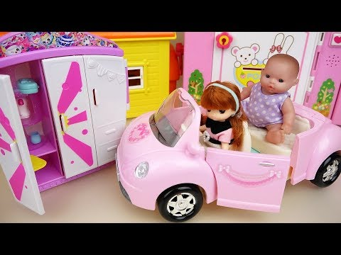 Thumbnail: Baby doll pink car and Closet surprise toys play