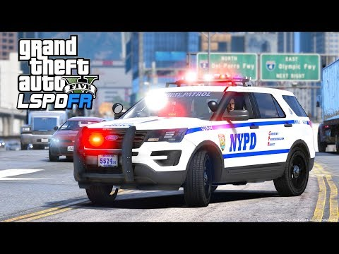 GTA 5 - LSPDFR Ep553 - Highway Patrol Garbage Truck Chase!!