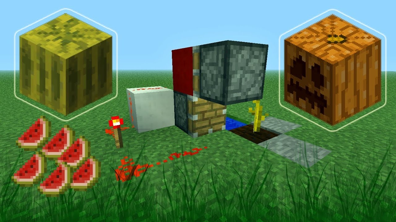 Minecraft How to Build a Fully Automatic Melon and Pumpkin ...1280 x 720 jpeg 128 КБ