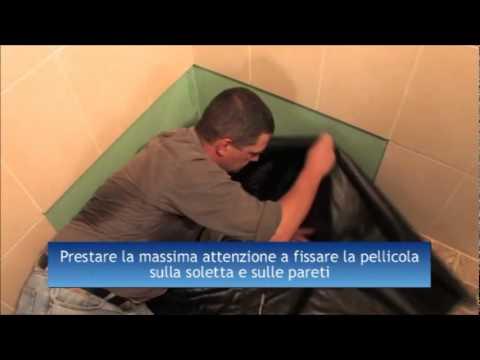 chiusino con telo in pvc per doccia a pavimento - youtube - Come Costruire Un Piatto Doccia Con Piastrelle