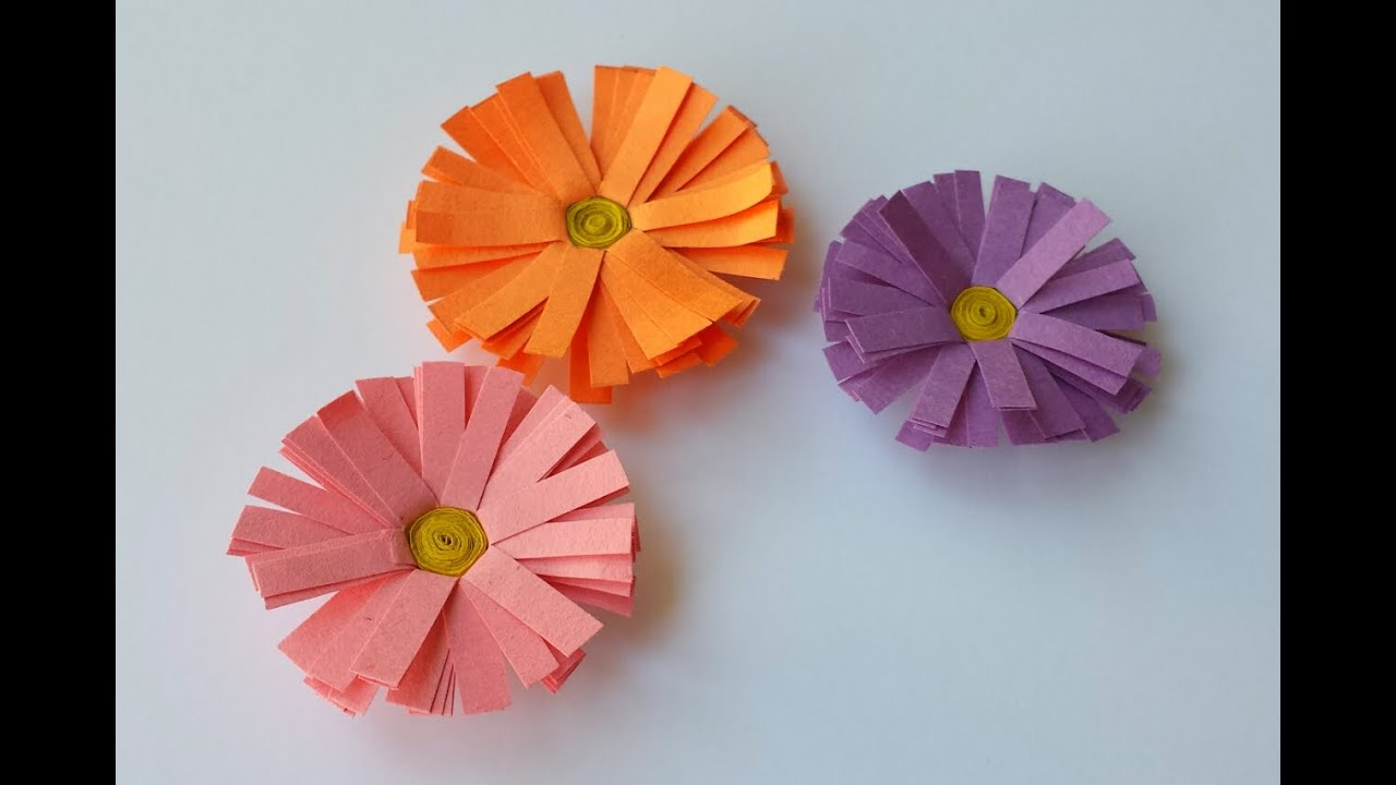 How To Make Paper Daisy Flower Youtube