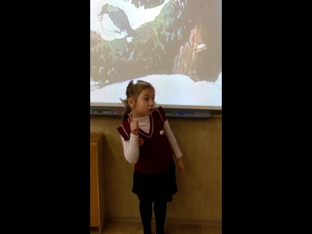Изображение предпросмотра прочтения – ОлесяСинева читает произведение «Ворона и Лисица» И.А.Крылова