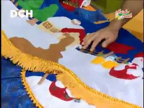 Pi de rbol con frosties youtube - Adornos arbol navidad fieltro ...