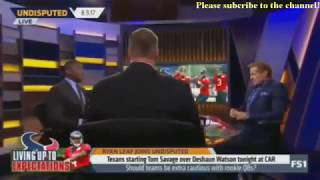 Skip and Shannon Undisputed Today 8/9/2017 - Ryan Leaf joins about Josh Rosen's comments