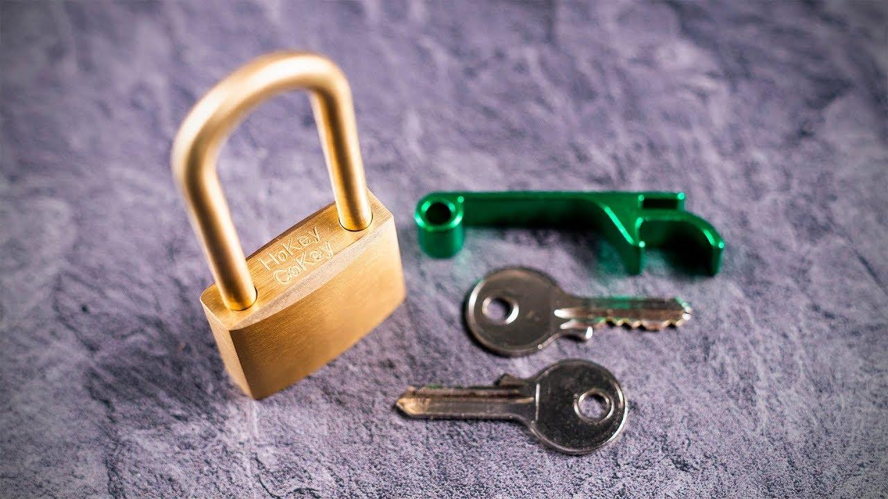The Golden Hokey Cokey Lock Puzzle!! - 2 Keys and a Bottle Opener?