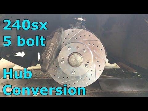 5 lug hub conversion and 300zx Brakes (Part 1)