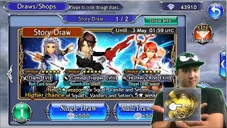 Dissidia Final Fantasy: Opera Omnia CRAZY 35 CP LUCK!! MULTI SUMMONS FOR SQUALL, VANILLE, & SETZER!!
