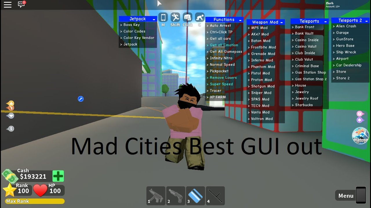 Mad City Best Gui Roblox Scripts Youtube