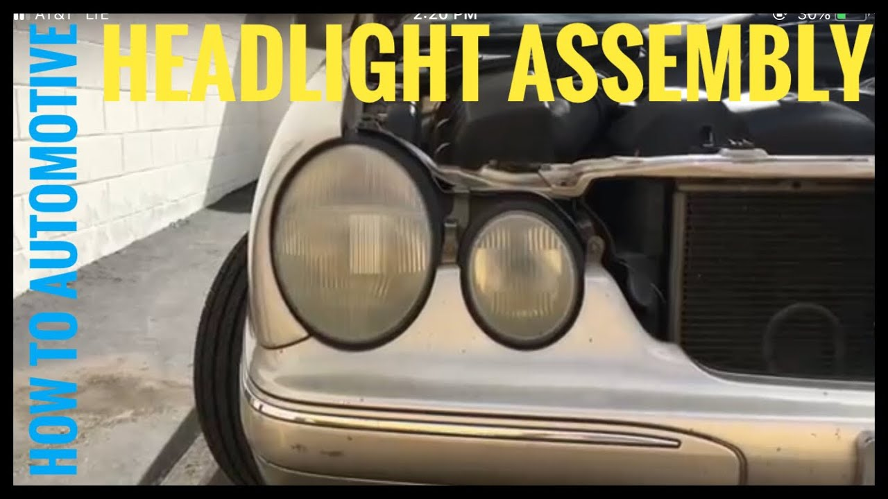 How To Replace The Headlight Assembly On A 2000 2003 Mercedes E320 2008 R350 Fuse Box Howtoautomotive Automotiverepair