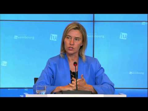 Foreign affairs ministers in Luxembourg: Press conference by Federica Mogherini