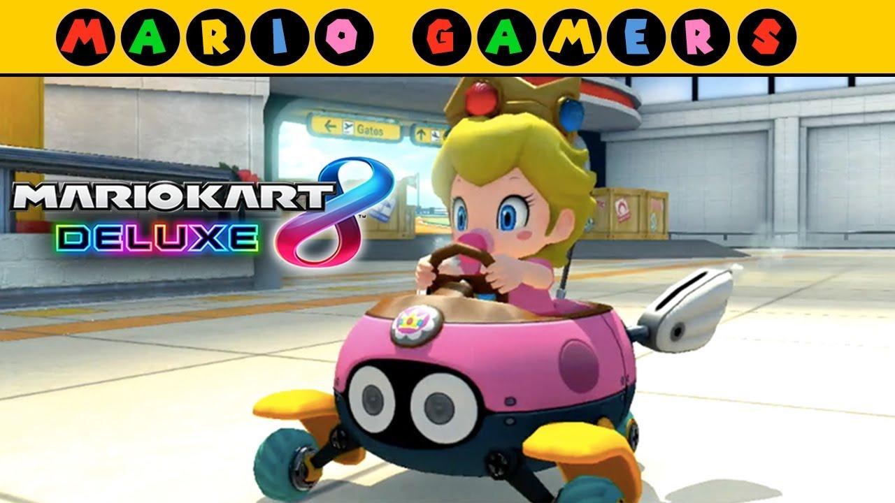 Baby Mario Mario Kart 8: Baby Peach Gameplay