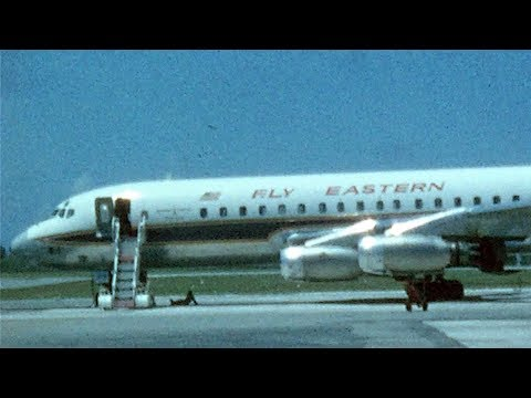 Bermuda Air Terminal 1963, Eastern Airlines DC-8 Golden Falcon Jet