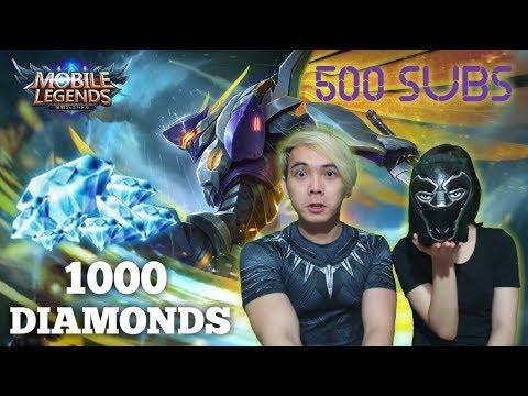 500 SUBS TEMBUS !! SAATNYA BLACK PANTHER BAGI2 1000 DIAMONDS GUYS!!