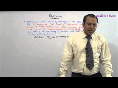 CPT - Micro Economics : Introduction : Lecture 1